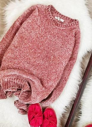 Велюровый розовый свитер zara1 фото