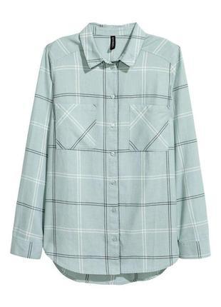 Блуза рубашка в клетку zara1 фото