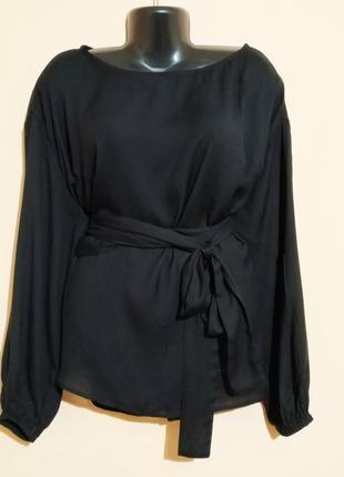 Блузка на поясе большого размера.1 фото