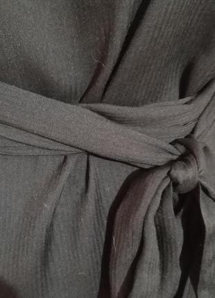 Блузка на поясе большого размера.5 фото