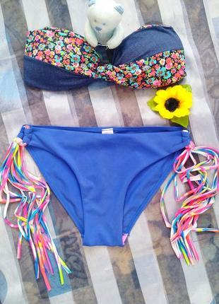 Модный раздельный купальник 👙 бандо,  h&m1 фото