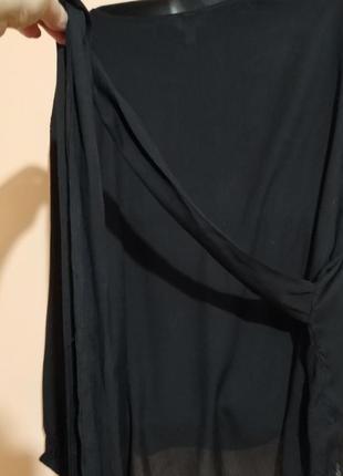 Блузка на поясе большого размера.6 фото