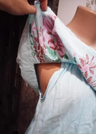 Новая блуза - топ с цветочным принтом |оборкой|кружевной вставкой3 фото