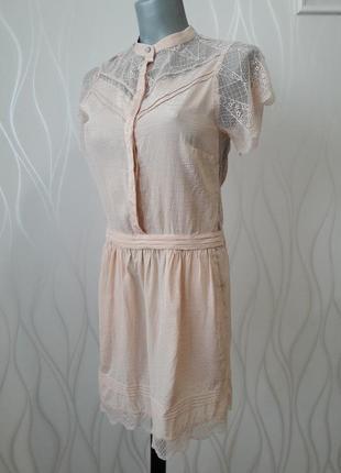 Невероятно красивое, нежное, ажурное платье персикового  цвета.1 фото