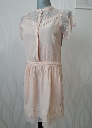 Невероятно красивое, нежное, ажурное платье персикового  цвета.3 фото