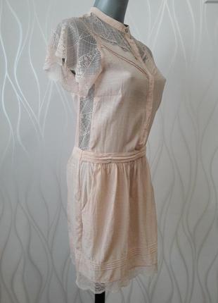 Невероятно красивое, нежное, ажурное платье персикового  цвета.4 фото
