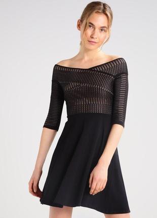 Платье вечерние с кружевом открытые плечи zara2 фото