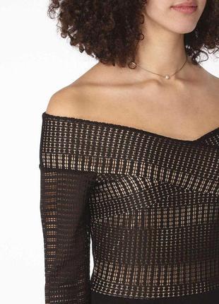 Платье вечерние с кружевом открытые плечи zara7 фото