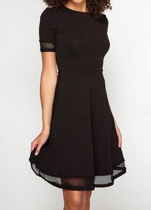 Черное платье в сетку кружево zara
