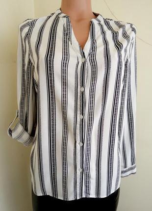 Блуза черно белая в полоску zara zara2 фото
