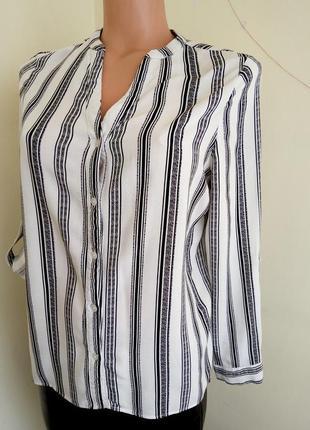 Блуза черно белая в полоску zara zara3 фото