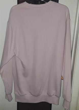 Свитшот пайта свободный оверсайз follow hm розовый длинный платье6 фото