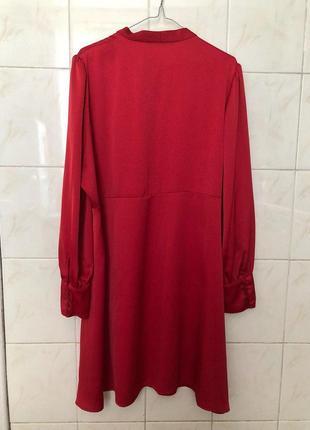 Красное платье большого размера zara8 фото
