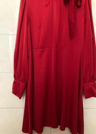 Красное платье большого размера zara7 фото