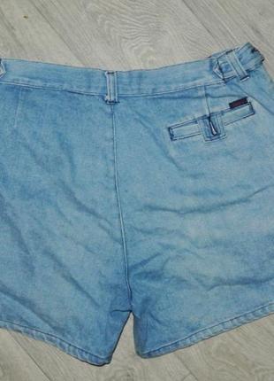 Модные шорты джинсовые на широкие бедра l-xl 12р. высокая талия2 фото