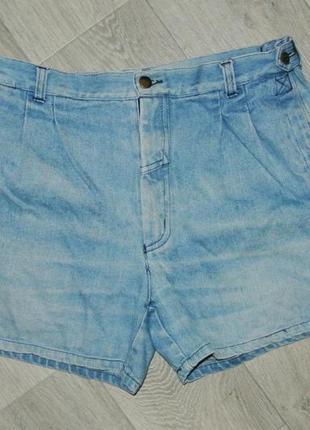 Модные шорты джинсовые на широкие бедра l-xl 12р. высокая талия1 фото