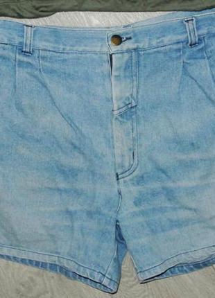 Модные шорты джинсовые на широкие бедра l-xl 12р. высокая талия3 фото