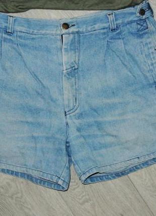Модные шорты джинсовые на широкие бедра l-xl 12р. высокая талия4 фото