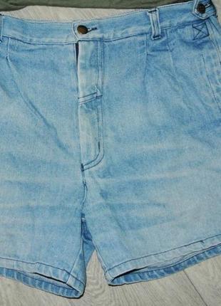 Модные шорты джинсовые на широкие бедра l-xl 12р. высокая талия5 фото
