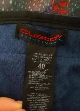Уникальный бренд custo barcelona, шелковая мини юбка, m-l4 фото