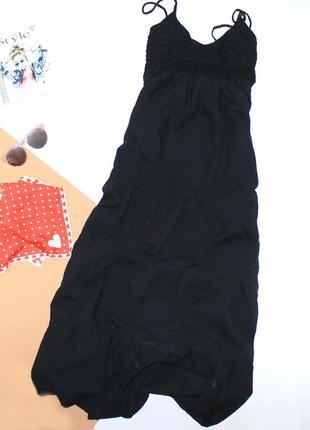 Ярусный сарафан в пол длинное котон с вишивкой вязкой , очень сексуальное и практичное3 фото
