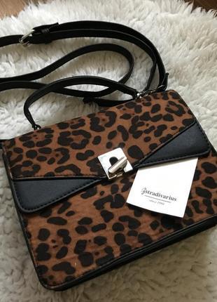 Новая сумка леопард stradivarius8 фото