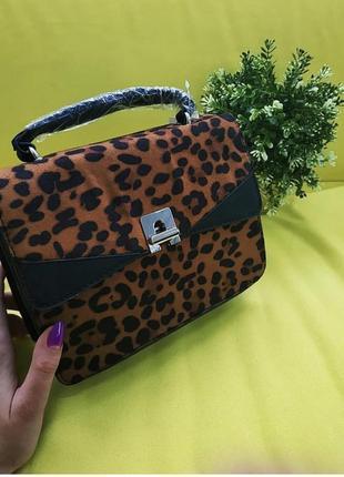 Новая сумка леопард stradivarius9 фото