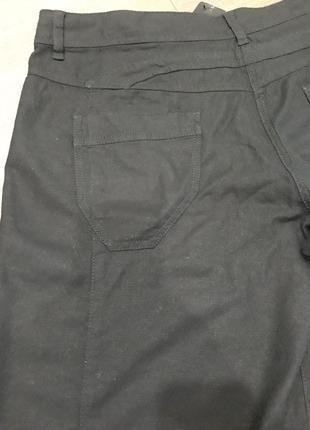 Базовые летние льняные укороченные брюки капри бриджи р.18/евро 46/укр 52-542 фото