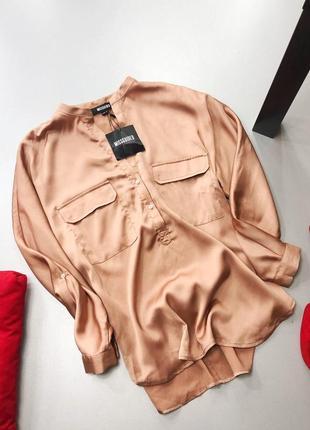 Нереальная сатиновая рубашка свободного кроя оверсайз missguided5 фото