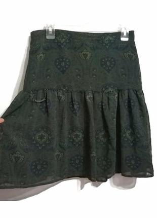 Акция! 1+1=3 💐 качественная шифоновая юбка  et compagnie, l-xl1 фото