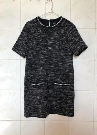 Блуза туника футболка из твид твида zara5 фото