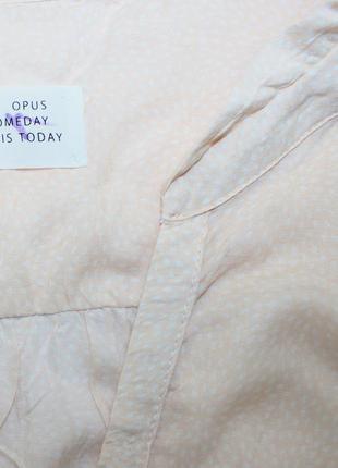 Легкая приятная блуза в принт горох капелька2 фото