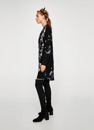 Платье рубашка в цветочный принт zara zara zara3 фото
