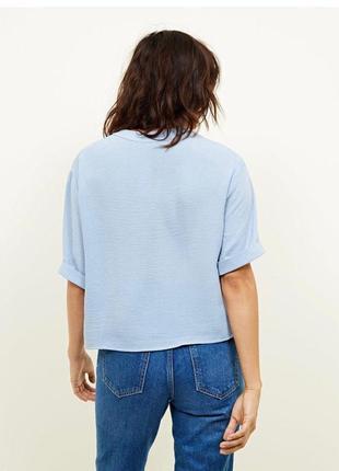 Блуза рубашка в небесно голубой цвет большой размер zara zara4 фото
