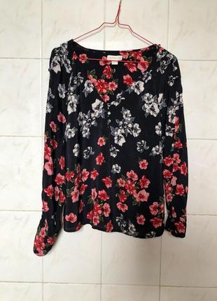 Блуза в цветочный принт zara1 фото