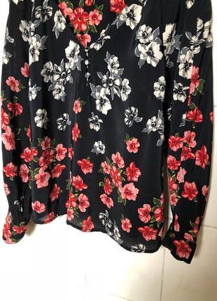 Блуза в цветочный принт zara3 фото