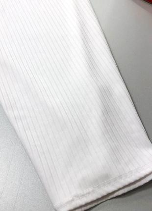 Стильное белое платье миди в рубчик с v вырезом missguided7 фото