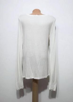 Белая качественная базовая блуза топ реглан, mexx, s-m2 фото