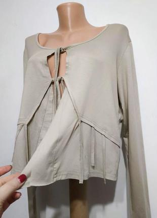 Блуза кардиган уникольный дизайн, mado, франция, xxl