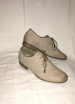 Туфли *tamaris* кожа-нубук германия р.38 (25.00см)1 фото