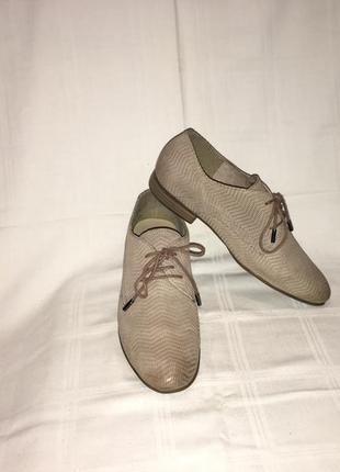 Туфли *tamaris* кожа-нубук германия р.38 (25.00см)2 фото