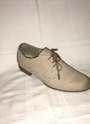 Туфли *tamaris* кожа-нубук германия р.38 (25.00см)3 фото