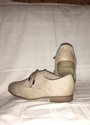 Туфли *tamaris* кожа-нубук германия р.38 (25.00см)8 фото