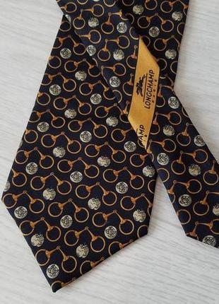 Longchamp 100% шелк галстук. оригинал. франция.