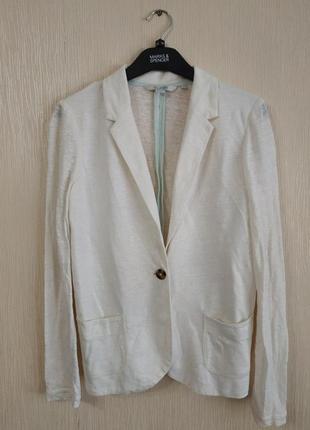 Легкий белый льняной блейзер пиджак жакет boden размер xs-s