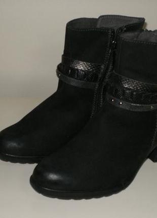 Кожаные ботинки tamaris (тамарис) 38р