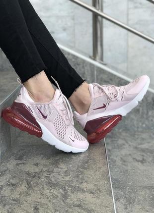 Шикарные женские кроссовки nike air max 270 pink