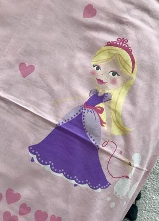Комплект 1,5 белья с принцессами. англия. хлопок.6 фото