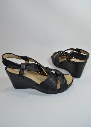 Р.37 geox respira италия оригинал натурал кожа! элегантные комфортные босоножки сандалии