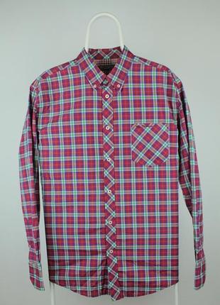 Оригинальная яркая качественная рубашка ben sherman